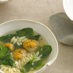 Chicken Meatball-and-Orzo Soup