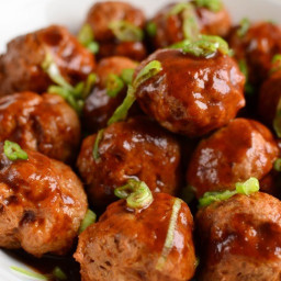 Chicken Meatballs in Hoisin Sauce