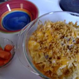 Chicken, Mushroom and Pasta Hot Dish