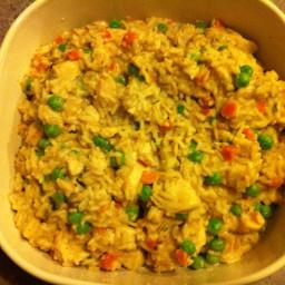 Chicken-Mushroom Risotto