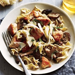 Chicken & Mushrooms in Wine Sauce