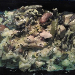 Chicken n veggies in cream sauce