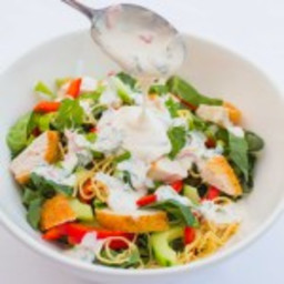 Chicken Noodle Salad with Creamy Chilli Lime Dressing