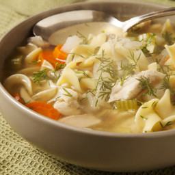 Chicken Noodle Soupwith Dill and Fennel