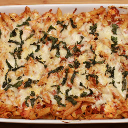 Chicken Parmesan Baked Penne