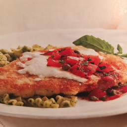 Chicken Parmesan with Fresh Tomato Relish