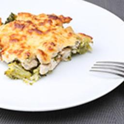 Chicken Parmesan with Garlic Sautéed Baby Broccoli