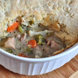 Chicken Pot Pie with Buttermilk Biscuit Crust