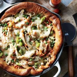 Chicken Potpie Skillet Pizza