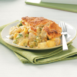 Chicken Potpie with Cheddar Biscuit Topping Recipe