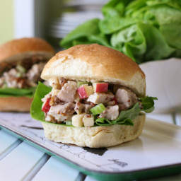 Chicken Salad Sandwich with Whole Grain Mustard