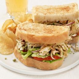Chicken Salad Sandwiches With Walnut-Dill Pesto