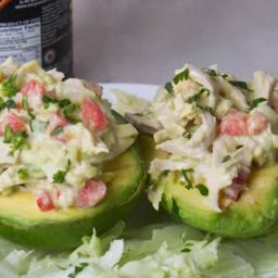 Chicken Salad Stuffed Avocados