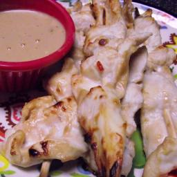 Chicken Satay with Peanut-Coconut Sauce