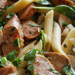 Chicken Sausage and Mushroom Penne