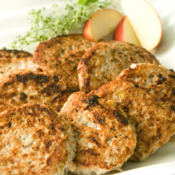Chicken Sausage Patties with Apples and Sage