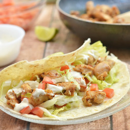 Chicken Soft Tacos with Secret Sauce