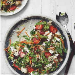 Chicken, Strawberry & Goat Cheese Salad