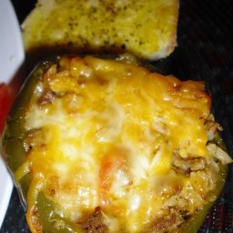Chicken-Stuffed Bell Peppers Spanish Style