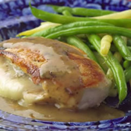 Chicken Stuffed with Golden Onions & Fontina