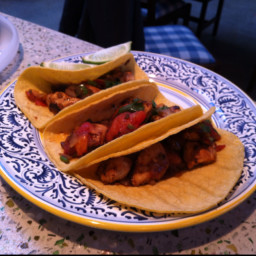 Chicken Tacos with Charred Tomatoes