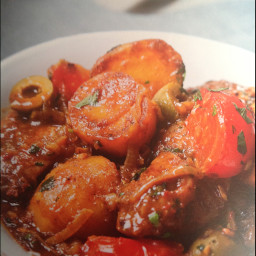 Chicken tagine n with preserved lemons