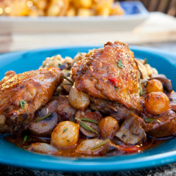 Chicken Thigh and Fennel Sausage Cacciatore Hunter Style