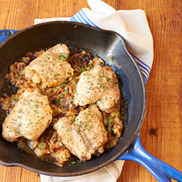 Chicken Thighs with Roasted Apples and Garlic