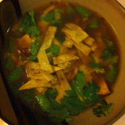 Chicken & tortilla soup (BH&G)