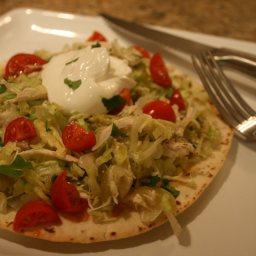 Chicken Tostada Salad with Salsa Verde