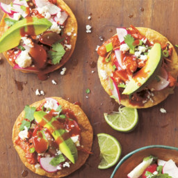 Chicken Tostadas with Radish Slaw