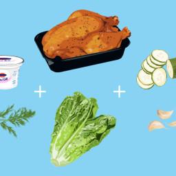 Chicken Tzatziki Salad