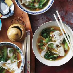 Chicken-Watercress Wonton Soup