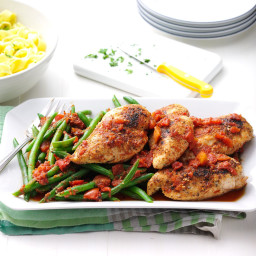 Chicken with Fire-Roasted Tomatoes Recipe