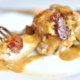 Chicken with Jalapeno-Bacon Mustard Sauce (in the Instant Pot)