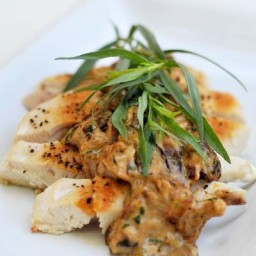 "Chicken with Mushroom ""Cream"" Sauce"