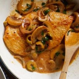 Chicken with Mushroom-Sherry Pan Sauce