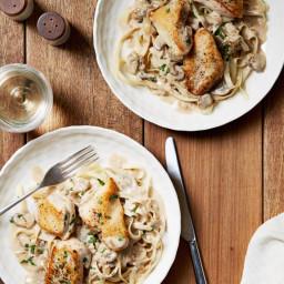 Chicken with Mustard Mascarpone Marsala Sauce
