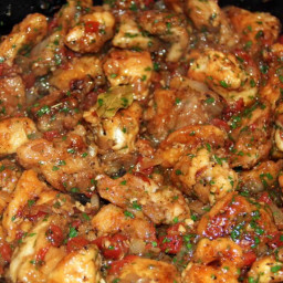 Chicken with Red Wine Vinegar and Tomatoes