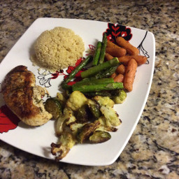 Chicken with roasted veggies