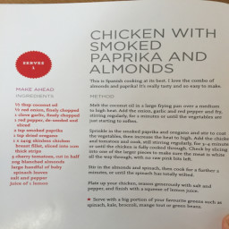Chicken With Smoked Paprika And Almonds