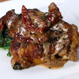 Chicken With Sun-Dried Tomato Cream Sauce Recipe by Tasty