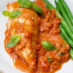 Chicken with tomato & mascarpone