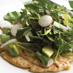 Chicken with Watercress Salad