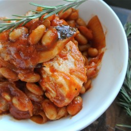 Chicken with White Beans and Rosemary