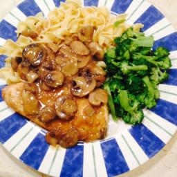 Chicken with Wine Mushroom Sauce