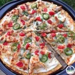 Chicken Alfredo Cauliflower Pizza