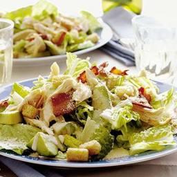 Chicken and bacon Caesar salad