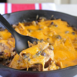 Chicken Black Bean Taco Bake