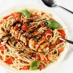 Chicken Bruschetta Pasta Salad